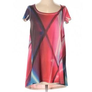 Obey | colorful laser rave tunic top xxs